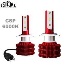 LSlight H1 Đèn LED 6000K Bóng Đèn Pha H4 H7 H8 H9 H11 HB3 9005 HB4 9006 Xe Ô Tô Tự Động Đèn Pha Turbo sương Mù Đèn 12V