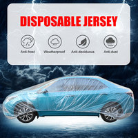 Disposable Plastic Car Cover with Elastic Band  Dust Cover  Rain Car Cover|Car Covers| |  -