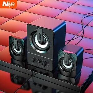 Проводные USB-колонки для ПК, стерео-динамик 4D с объемным звуком для ноутбука, настольного ПК, Bluetooth-динамик, мультимедийный громкоговоритель