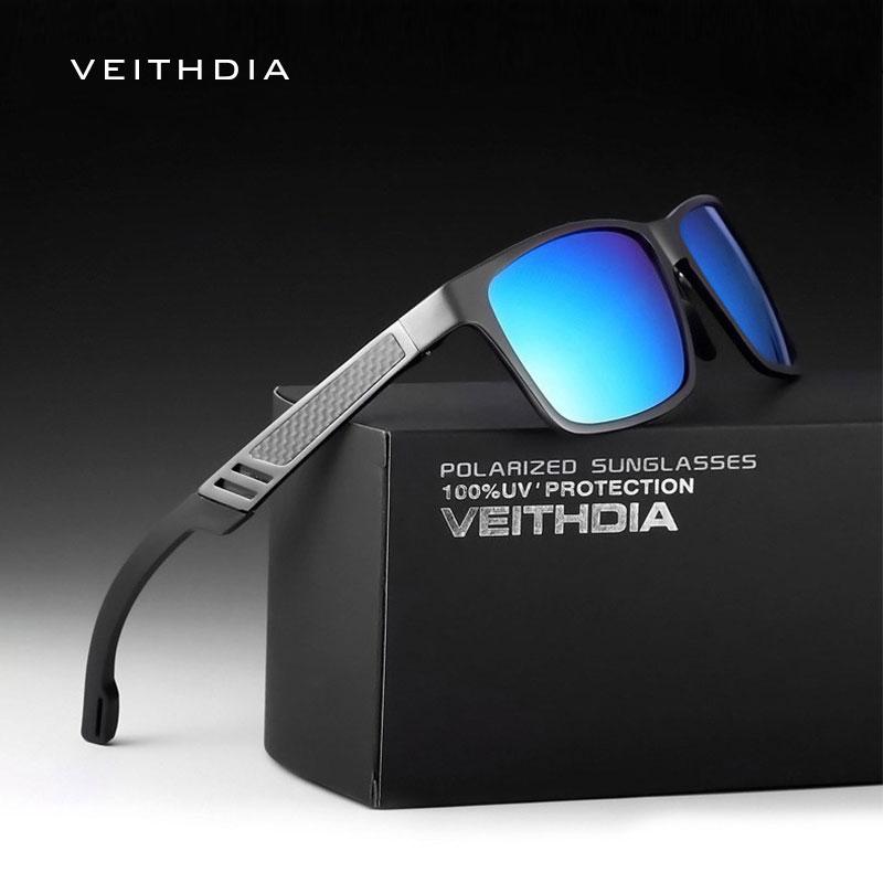VEITHDIA Men's Polarized Sunglasses Aluminum Magnesium Sun Glasses Driving Glasses Rectangle Shades For Men Oculos masculino Mal