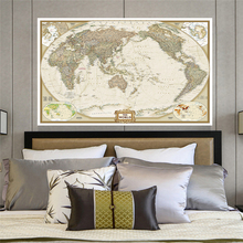 The World Vintage Map 150x100cm Non-woven Canvas Painting Retro Wall Art Poster Living Room Home Decoration School Supplies