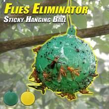 Etkili meyve sinekler katil asılı sinek kapanı topu meyve sinek yakalayıcı yapışkan tuzak Fly açık bahçe tek kullanımlık eşek arısı Dropship