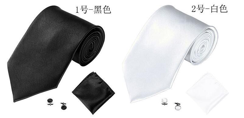 Монохроматический мужской галстук манжета, карман полотенце костюм