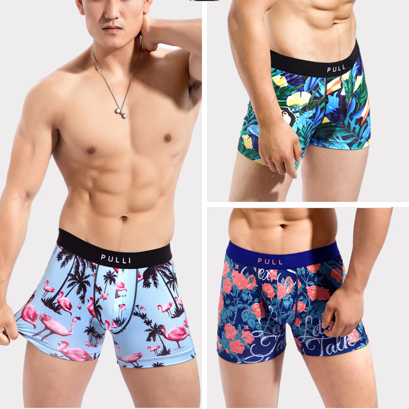 New Collection Men's Underwear Boxers Sexy Gym PULL  Bikini Under Wear Manin Cartoon Leica