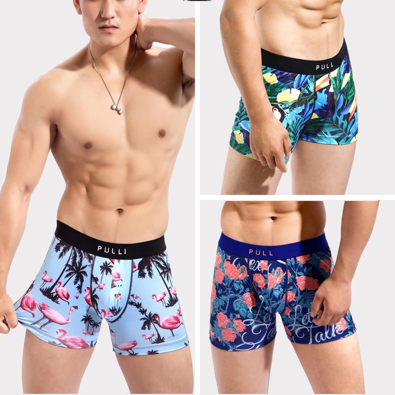 New Collection Men's Underwear Boxers Sexy Gym PULL  Bikini Under Wear Manin Cartoon Leica