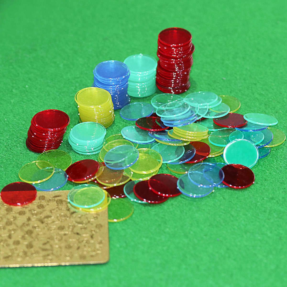 Toyvian 400 unidades de 4 colores de 3//4 pulgadas para bingo fichas de p/óquer para practicar bingo juegos de cartas y matem/áticas fichas de p/óquer