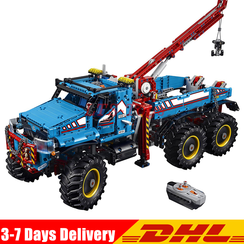 DHL The Ultimate All Terrain 6X6 Remote Control Truck Set Building Blocks Bricks Toys Compatible <font><b>Legoing</b></font> <font><b>42070</b></font> 20056 image