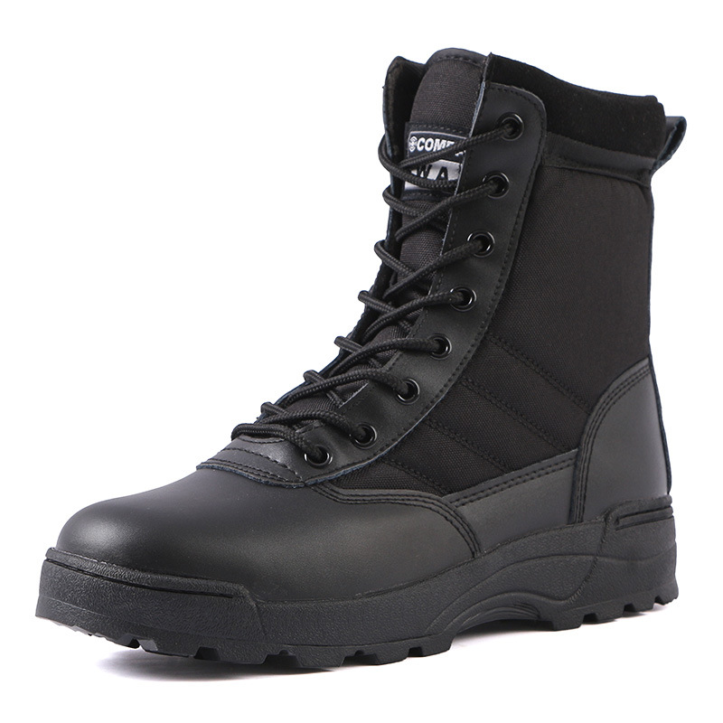 Warmth Outdoor Hiking Shoes for Men Waterproof Military Tactical Boots Combat Army High Top Desert Boots-4