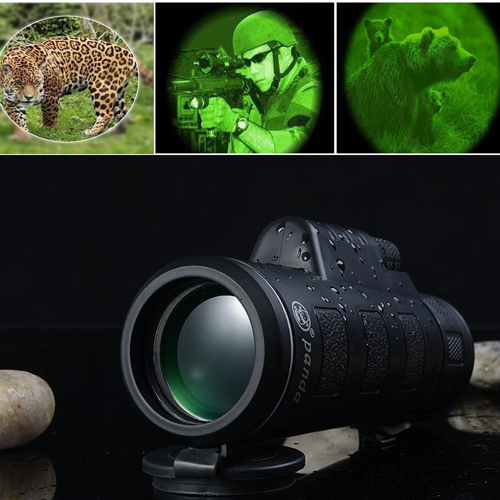 BAK4 Night Vision Monocular Telescope 35X50 1200M/ 9600M Travel  Outdoor Green Film Tourism Scope Portable HD Single Telescope
