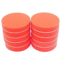BMBY-10Pc 180Mm 7 inch Flat Sponge Gross Polishing Buffing Pad Kit for Car Polisher Clean Waxing Auto Paint Maintenance Care