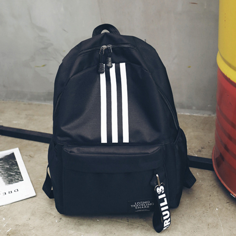 Casual School Bags Boys And Girls Canvas School Backpack Travel Laptop Men Women Backpacks Mochila Schoolbag WBS623-3
