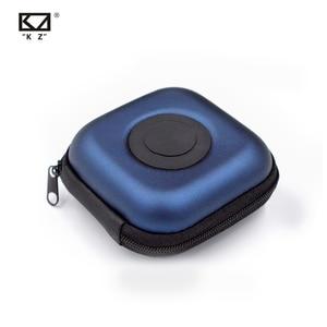 Image 1 - Orijinal KZ PU kılıf çantası kulaklık kulaklık aksesuarları taşınabilir kasa basınç şok emme saklama paketi çantası Logo