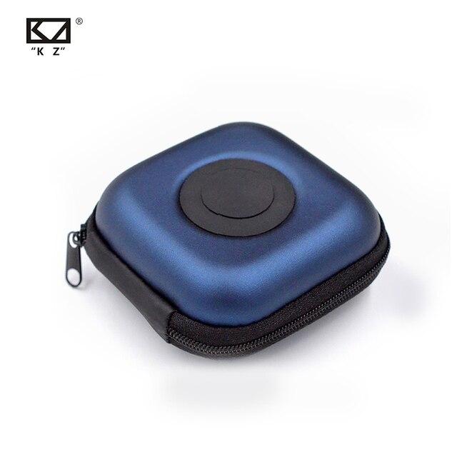 Orijinal KZ PU kılıf çantası kulaklık kulaklık aksesuarları taşınabilir kasa basınç şok emme saklama paketi çantası Logo