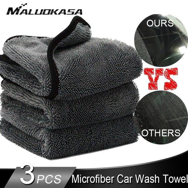 منشفة سيارة من الألياف الصغيرة غسل السيارات بالتفصيل القماش تنظيف السيارات 600GSM تجفيف تلميع منشفة ناعمة خرقة لسيارة المطبخ اكسسوارات السيارات
