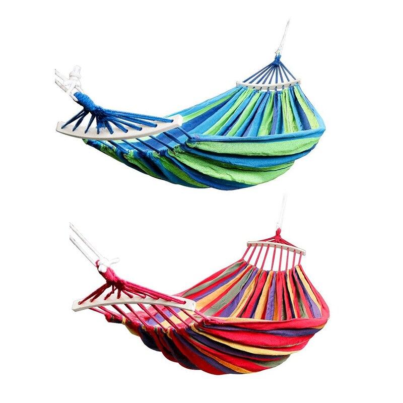 Двойной гамак 450 фунтов Портативный располагаться лагерем перемещения подвесной гамак свинга удобное кресло гамак из холста