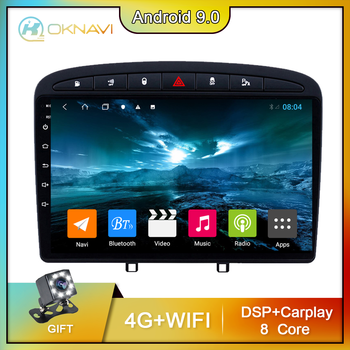 for Peugeot 308 408 Car Radio Radios 2010-2016 Android 9 Inch Head Unit Stereo Navigation GPS Carplay 2din 1 2 Din No DVD CD image