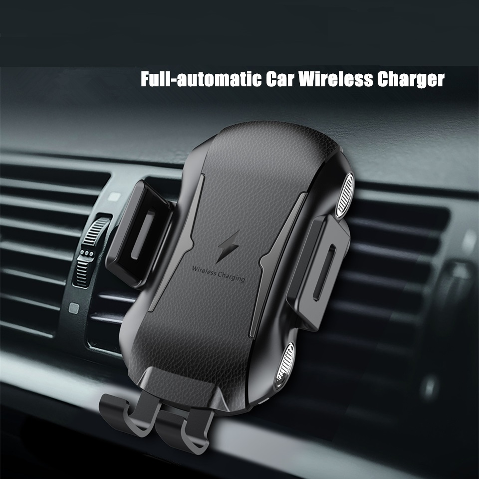 2019 New Full Automatic Fast Charging Car Phone Holder Qi Wireless Charger Receiver For Huawei IPhone Samsung Car Phone Bracket