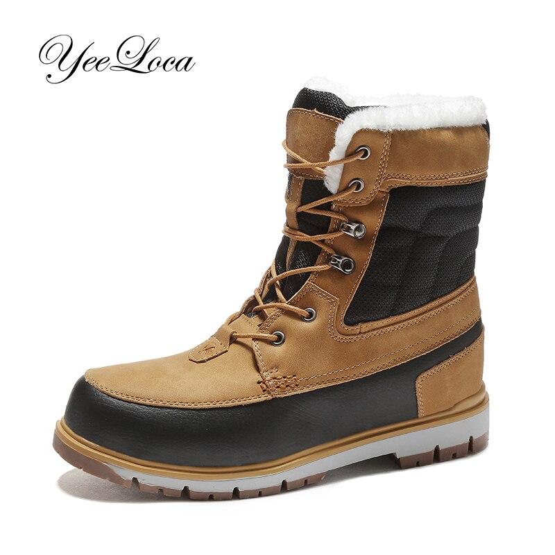 Unisex Winter Warm Plush Boots Pro-Mountain Outdoor Hiking Shoes For Men Women Sport Shoes Training Trekking Footwear