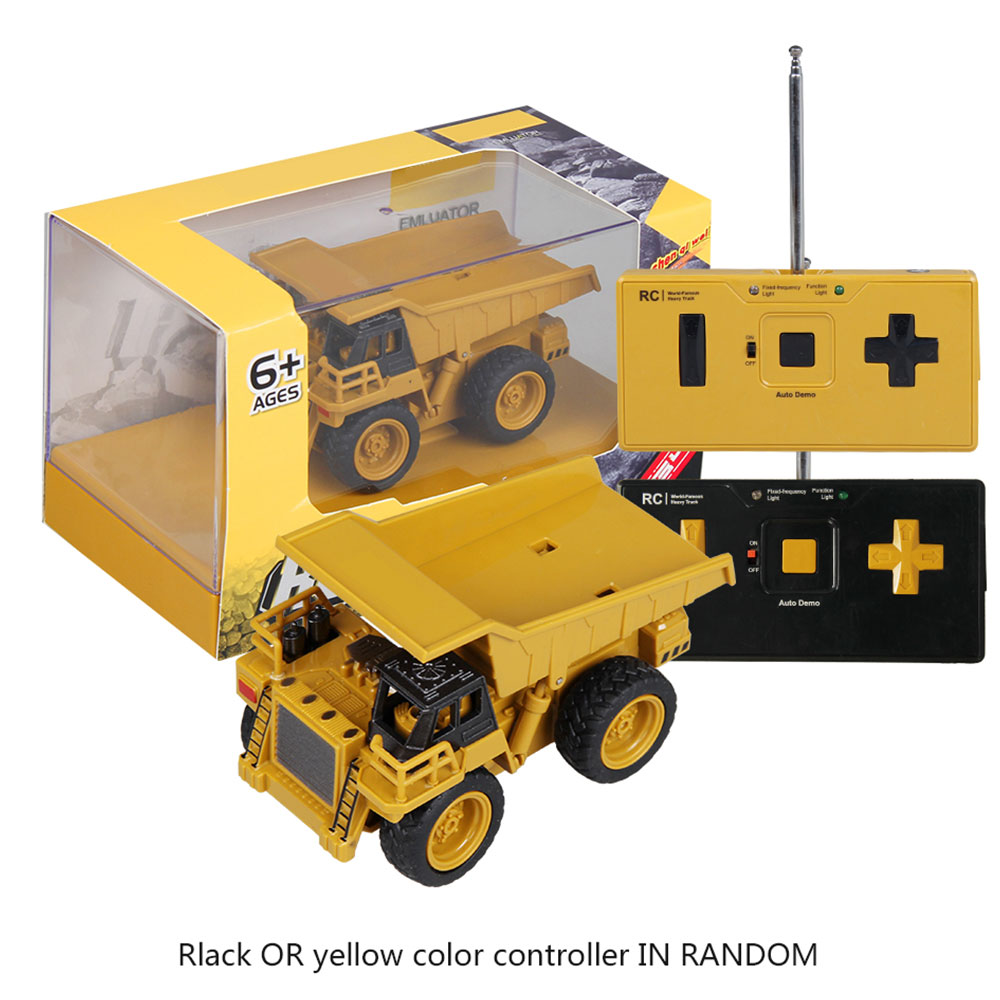 Remote control dump truck rc truck toy remote control for children crane bulldozer electric construction toy boys gift