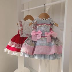 Одежда для маленьких девочек; платье принцессы в стиле «испанская Лолита»; милое кружевное платье без рукавов для девочек на День рождения; ...