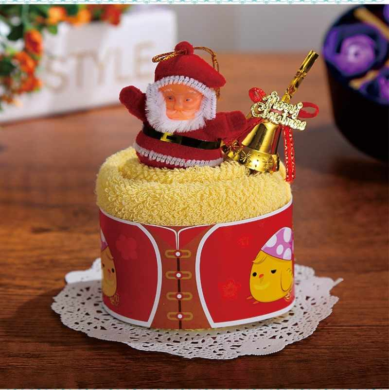 Chúc Giáng Sinh Tặng Cupcake Khăn Bông Sinh Noel Trang Trí Năm Mới Đồ Dùng Trang Trí Giáng Sinh Cho Nhà Trẻ Em Trẻ Em 30X30 cm