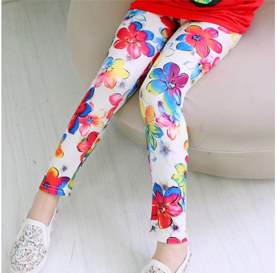 VIDMID Girls Skinny Leggings Candy Color Lace pants Leggins for Baby Girl Kids Children cotton Princess trousers pants 4114 07 3