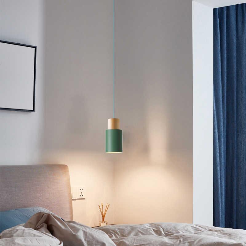 Holz FÜHRTE Anhänger Licht Innen hängen lampe esszimmer wohnzimmer Küche Insel bar cafe drop Schlafzimmer deco nordic anhänger lichter