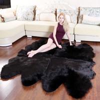 ROWNFUR Soft Artificial Sheepskin Rugs For Kids Living Room Bedroom Hairy Warm Plush Fur Floor Shaggy Mats Wool Large Carpets