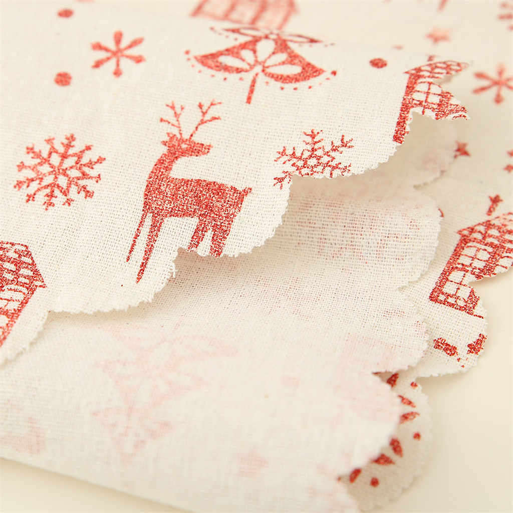 クリスマス装飾リネンプリントテーブルフラグテーブルランナープリントタッセルテーブルクロスプレイスホテル祭の装飾