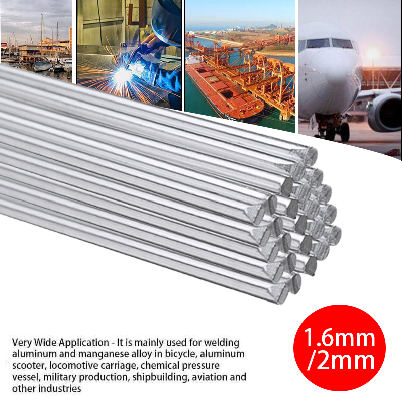 1.6/<font><b>2mm</b></font> 5/10/20Pcs Low Temperature Easy Aluminum Welding <font><b>Rods</b></font> 50cm Melting Point No Need Solder Powder Welding Supplies image