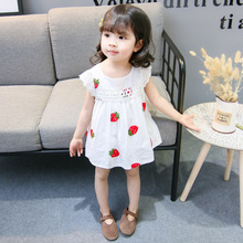CNUM Floral Fly Sleeve Soft Cotton Girls Dresses Korean Girl