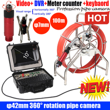 100M DVR Sewer Drain camera with 360 rotaion ptz camera endo