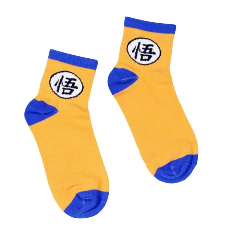 2018 Unisex Dragon Ball Socks Novelty Funny Cartoon Son Goku Socks Harajuku Hiphop Cosplay Ankle Sock