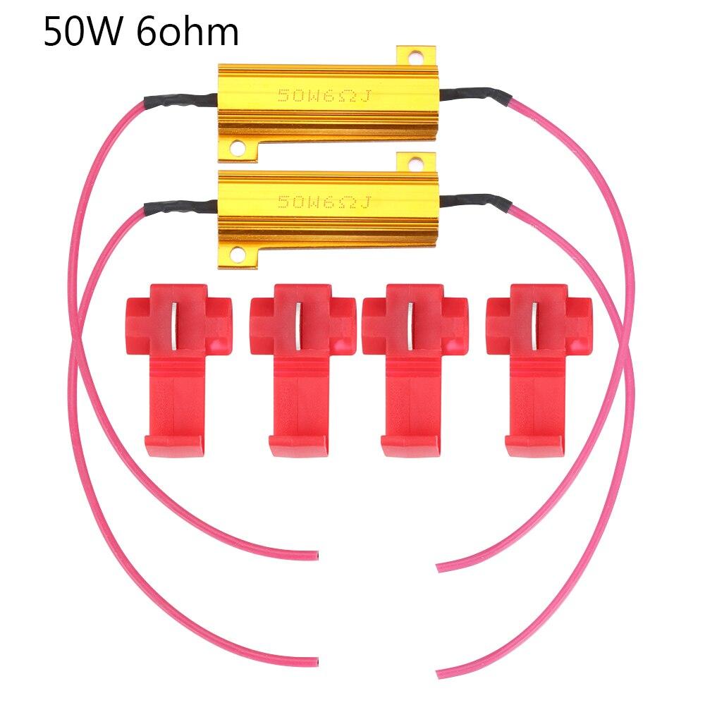 50W 6ohm Load Resistors Fix LED Bulb Fast Hyper Flash Turn Signal Blink Error Code Car Accessories