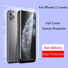 Voor + Back Full Body Screen Protector Voor Iphone 12 Pro Max Matte Full Cover Edge Voor Iphone 12 Pro max Volledige Cover Hydrogel Film