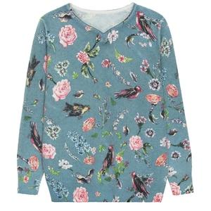 Image 5 - YISU suéter estampado para mujer, suéter de otoño e invierno con estampado Floral de aves, Jersey informal holgado de manga larga, 2019