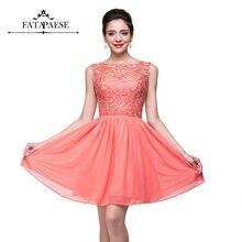 FATAPAESE Prom Dresses Pink Red Short Women Short Dress Summer Vestido De Festa For Wedding Evening Party Formal Gown Vestido De