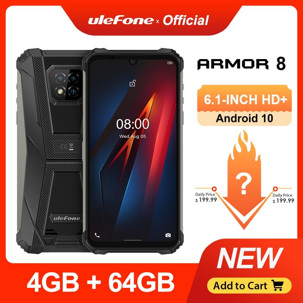 Ulefone power 8 прочный мобильный телефон Android 10 4 Гб + 64 Гб мобильный телефон Восьмиядерный 2,4 г/5G Wi-Fi 6,1 дюйма Водонепроницаемый смартфон