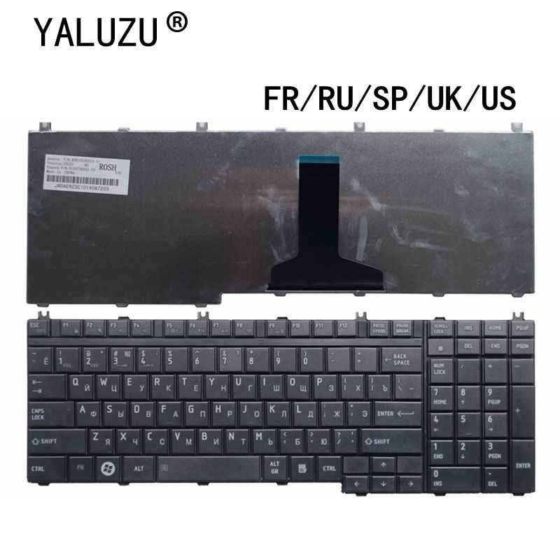 FR/RU/SP/UK/US Keyboard Laptop untuk Toshiba Satellite L350 L500 L350 L355 L505 L550 l555 L535 L585 L586 L587 L581 MP-06876GB-9204