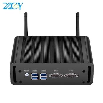 XCY X31G Fanless Mini PC i5 5200U 8GB RAM 128GB SSD 2x RS232 Serial Ports Dual NIC HDMI VGA 4xUSB3.0 WiFi Windows Linux Ubuntu