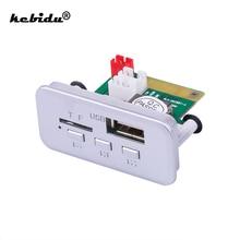 Kebidu Mini 12V Mp3 dekoder kurulu paneli Bluetooth 5.0 araba radyo Handsfree kablosuz FM modülü TF kart 3.5mm USB AUX müzik çalar