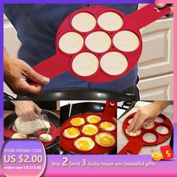 1 szt Silikonowa nieprzywierająca fantastyczna naleśnikarka do jaj pierścień pieczenie w kuchni omlet formy odwróć kuchenka pierścionek z jajkiem formy tanie i dobre opinie ATUCOHO Jajko i naleśnik pierścionki HEA-2015 Ekologiczne Ręcznie Jajko narzędzia Silikonowe Egg Pancake Rings Non stick pancake maker