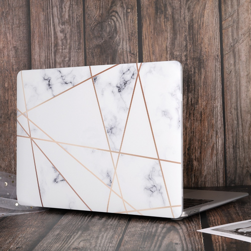 Marble Flower Bling Case for MacBook 78
