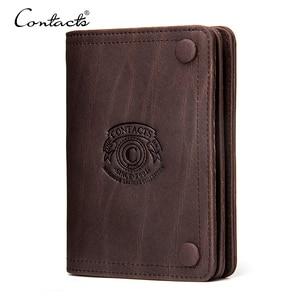 CONTACT'S марочный Мужской брендовый бумажник из натуральной кожи с отделениями для денег карман для монет на молнии 2019