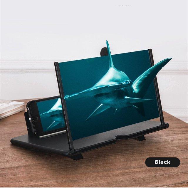 최신 끌어 오기 Typer 휴대 전화 증폭기 3D 효과 고화질 대형 스크린 데스크 홀더 확대 영화 게임에 대 한 접는