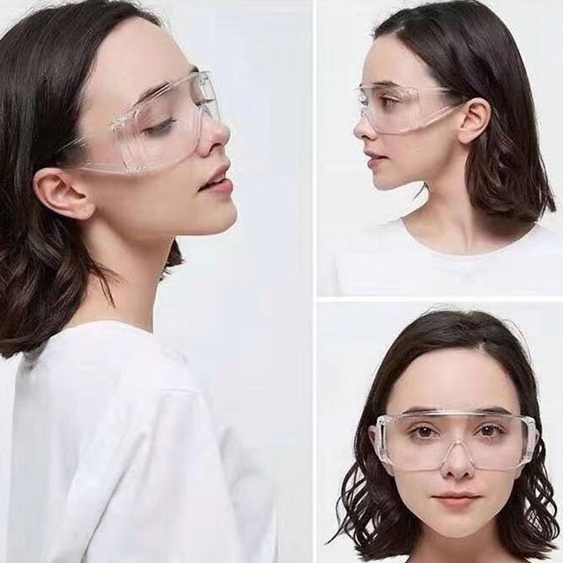 PC-Safety Glasses Eye Protection Anti-Dust&Shock Goggles Transparent Eyepiece