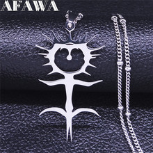 2021 Fashion Ghostemane Stainless Steel Charm Necklaces for Women Silver Color Chain Necklaces Jewelry colgantes mujer N4413S02