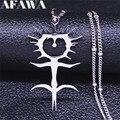 Модное ожерелье ghosteгрива из нержавеющей стали, ожерелья для женщин, серебряная цепочка, ожерелья, ювелирные изделия, женские ожерелья N4413S03