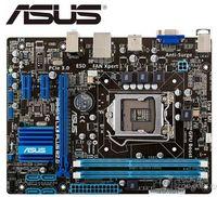Asus P8H61-M lx3 plus r2.0 placa-mãe original para intel ddr3 lga 1155 suporte i3 i5 i7 16 gb h61 usado desktop motherborad