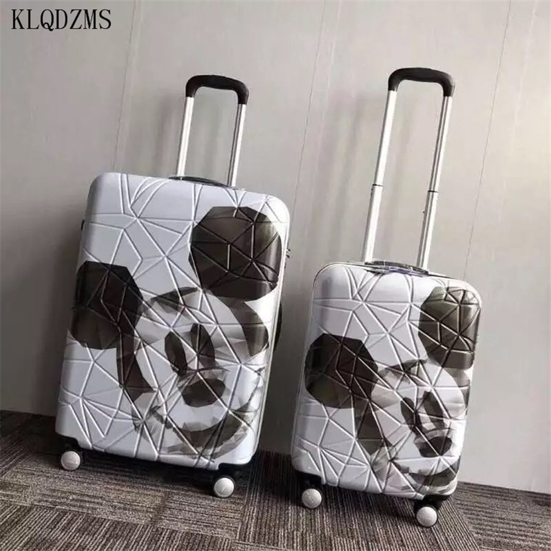 KLQDZMS  20/24inch  Cartoon Mouse Rolling Luggage Spinner Brand High Quality Travel Suitcase On Wheels